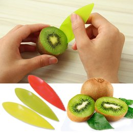 high quality kitchen knife sets Promo Codes - 3PCS Set Hot Sale HIgh Quality Random Color 2 in 1 Plastic Fruit Knife Kiwi Spoon Kitchen Accessories
