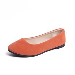 8ac1ef365bc G2054 Tallas grandes para mujer Zapatos planos Resbalón en los zapatos  planos Mujer del color del caramelo Zapatos del barco Mocasines negros Faux  Suede ...