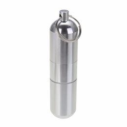 Casi chiave impermeabili online-Moda nuova lega di alluminio portasigarette capsula custodia impermeabile pillola stuzzicadenti uomini regalo portachiavi titolare