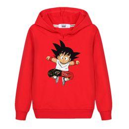 bfc0bd32c New Cartoon Fashion Children's Sweater Boy Dragon Ball GOKU Hoodie Long  Sleeve Cotton Clothing baby girl Anime Print Sweatshirt