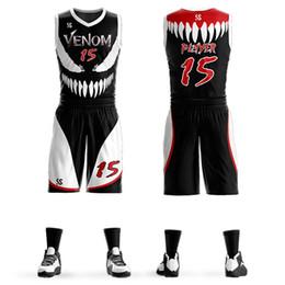 Camisetas de entrenamiento baratas online-Los hombres de bricolaje jerseys de baloncesto uniformes de baloncesto baratos conjuntos sin mangas equipo de entrenamiento de camisetas deportivas ropa de secado rápido
