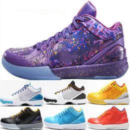2019 scarpe da basket arancione kobe Zoom Kobe IV 4 Protro ZK4 Prelude Draft Day Carpe Diem Del Sol ACES Arancione Scarpe da basket Uomo Sneaker da uomo Size7-12 sconti scarpe da basket arancione kobe