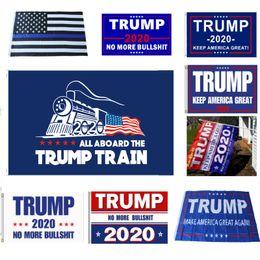 2019 confeti de plata al por mayor Decor Banner Trump Flag America Again for President USA Donald Trump 2020 Election Banner Flag Donald Flags 90 * 150cm Suministros para fiestas XD21168