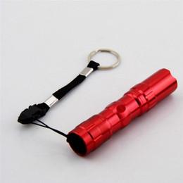 2019 mini flash de la batería Mini alta potencia Protable linterna led flash linterna luz lámpara impermeable AA batería bolsa llavero laterna para acampar mini flash de la batería baratos