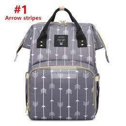 borsa per pannolini, grande capacità borsa a righe multi-funzione, zaino, borsa di maternità pannolino borsa da viaggio zaino Desiger Nursing Borsa per Baby da
