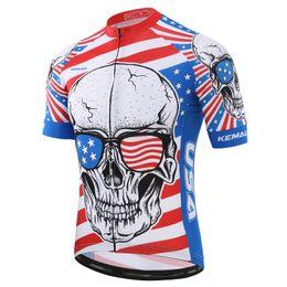 Russe Pro Respirant Vélo Jersey D'été Crâne Courses Vêtements Hommes Polyester Vélos Chemises Maillot Ciclismo Hombre Vélo Usure ? partir de fabricateur