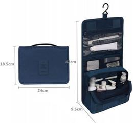 Nuovi uomini donne organizzatore cosmetico portatile impermeabile di grande capacità gancio borsa da viaggio all'aperto appeso borsa da toilette lavare borse trucco da pattini di camuffamento all'ingrosso fornitori