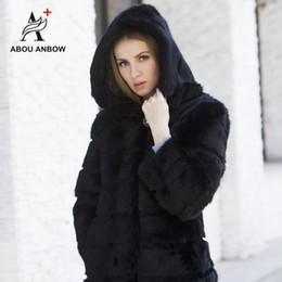 modelos femeninos delgados negros Rebajas Nueva llegada Chaqueta de invierno Mujeres con piel real con capucha Mujer Suave Negro Modelo corto Slim Abrigos de piel natural de alta calidad Prendas de abrigo