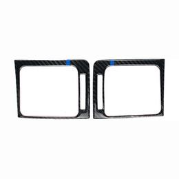 2019 pegatinas de silvicultor Diseño de moda para Subaru Forester interior del acondicionador de aire de fibra de carbono Outlet Vent Frame Car Styling Sticker 2016-2018 rebajas pegatinas de silvicultor