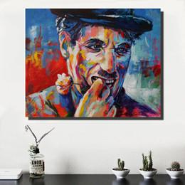 2019 marcos de pared de tres piezas 1 PC modernas Pintura Figura lona del aceite del arte de la pared divertido mira cuadros para la sala de estar Decoración Impreso
