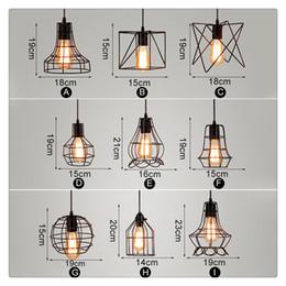 Argentina LED Modern Iron Cage Chandelier Retro Conciso 9 Estilos Lámpara de Techo Ajustable Metal Colgante Lámpara Colgante Pantalla Interior cheap modern cage chandelier Suministro