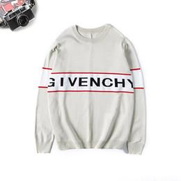 2019 wintert-shirts Givenchy 19ss neue Frühling Winter Europa Paris American Stars Mode Männer Sport Pullover Casual Frauen klassische T-Shirt Pullover Mann Oansatz Strickwaren günstig wintert-shirts