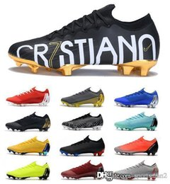 2019 cr7 boîte de taquet nike zapatos de soccer Avec la boîte Couleur Bas Mercurial CR7 SE 360 Elite FG Hommes Chaussures de Football LVL UP CR7 Crampons de Football En Plein Air Hommes Bottes de Football promotion cr7 boîte de taquet