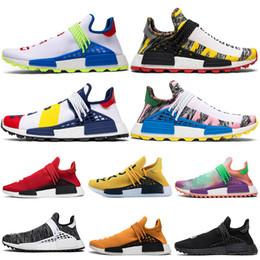 new product 4b32e c97c9 nmd shoes 2019 Human Race Hu Trail Pharrell Männer Laufschuhe gelb rot weiß Nerd  schwarz Creme Holi Herren Turnschuhe Frauen Sport Turnschuhe Größe 36-47