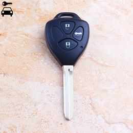 camry remote key Rebajas 3 Botones de coches 315MHz dominante alejada con la viruta 4D67 para Key Camry RAV4 4Runner Hilux Fortuner Cerradura con TOY43 Cuchilla