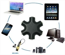 3.5mm Splitter Jack 6 Way Multi Port Hub Adaptateur Aux Utile Audio Câble Convertisseur Écouteur Accessoire Sortie Partager Distributeur ? partir de fabricateur