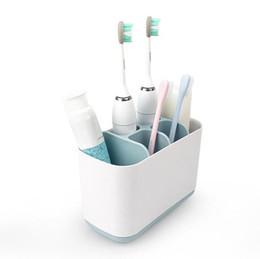 suporte de armazenamento do banheiro Desconto Prateleira Titular Escova De Dentes De plástico 4 Cores Sabão Creme Dental Rack De Armazenamento De Armazenamento De Armazenamento Caixa De Suporte De Armazenamento OOA6530