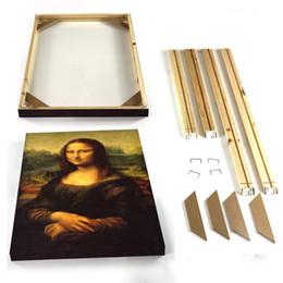 2019 foto pintura lienzo Lienzo Cuadros de cuadros de bricolaje Arte de la pared Marcos de cuadros de fotos Cuadros de cuadros Marco de madera sin lienzos rebajas foto pintura lienzo