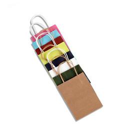 Zapatos de tela de moda Bolsas de papel de regalo Azul cielo Kraft Manija de papel Bolsa de la compra Cumpleaños de la boda Navidad Año Nuevo Paquete de regalo de fiesta Bolsas desde fabricantes