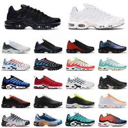 2020 tênis mais nike air vapormax plus tn Plus SE Tn Tuned 1 Hybird Mens Running shoes Men Sneakers Tns Fashion Brand shock orange Womens Trainers sports sneakers 36-45 tênis mais barato