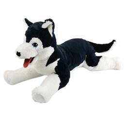 ee07501b44318 wholesale Free Dropshipping Soft Toy Husky Dog Siberian Stuffed Alaskan  Malamute Eskimo Large Home Decor Baby Pillows