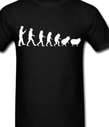 Langarm t-shirt wolle online-Evolution Schafe T-Shirt T-Shirt oder Langarm Hoodie Tank Top Banks Shepherd Wolle Sommer heißer Verkauf neue T-Shirt Druck Männer T-Shirt Top Qualität