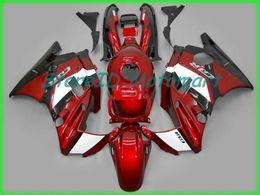 1994 honda cbr f2 carenados online-Kit de carenado de motocicleta para HONDA CBR600F2 91 92 93 94 CBR 600 F2 1991 1994 ABS Rojo llamas negro Carenados + regalos HF37