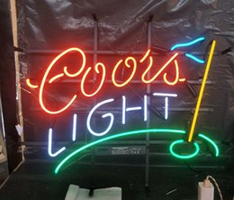 coorisce i display di luce Sconti La vendita superiore Coors Light Neon Sign Light Bar Pubblicità Bar Intrattenimento decorazione di arte Vetro di schermo reale lampada in metallo Telaio 17 '' 24 '' 30''40 ''