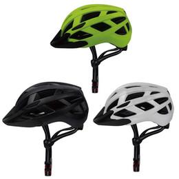 Casque vert clair en Ligne-Casque De Vélo Noir Blanc Vert Casque De Vélo Avec Lumière Arrière Montagne Casques De Vélo De Route Ultra-Léger Casque De Sécurité 55-62cm