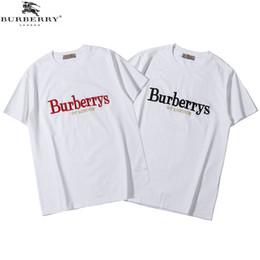 Camisas únicas de los hombres online-Diseñador casual de verano camisetas de lujo t shirts para hombre tops marca boca de tiburón patrón ropa única manga corta camiseta para hombre tops