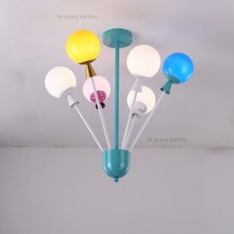 2019 lâmpadas da sala da princesa Lâmpadas de teto das crianças personalidade criativa balão de cor dos desenhos animados da lâmpada da lâmpada da princesa quarto lâmpada do quarto moderno simples leds desconto lâmpadas da sala da princesa