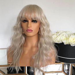2020 cabelo loiro de platina cabelo humano Transparente Lace Platinum Blonde onda do corpo humano laço do cabelo Frente Perucas com Franja Natural Ondas 360 frontal perucas loiras ondulado cabelo loiro de platina cabelo humano barato
