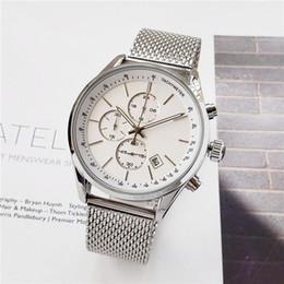 Todos os relógios de pequeno porte BOSS relógios top relógios de luxo para homens 44mm de quartzo Relógios de pulso esportivos resistentes à água em aço inoxidável de Fornecedores de relógios de luxo réplicas