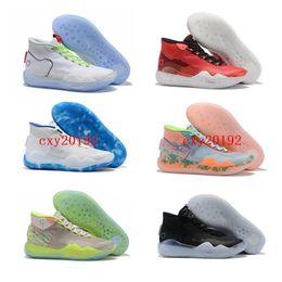 2019 Новый Кевин Дюрант XII высокий KD 12 воинов дома белый синий желтый мужская баскетбольная обувь мужчины спортивные кроссовки обувь размер 7-12 cheap kd mens shoes white от Поставщики кд мужская обувь белая