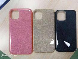 Блестящие сотовые телефоны онлайн-3 в 1 Bling чехлы для мобильных телефонов для Iphone 11 Pro Samsung Galaxy Note 10 S10 Plus A30 Huawei P30 блеск блестящие крышки