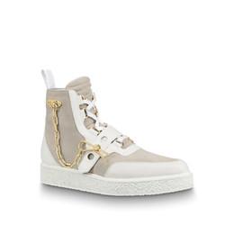 CREEPER ankle boots Mulheres Homens Últimas botas de grife de reação em cadeia de Ouro tênis decoração tamanho 35-45 para os amantes do modelo HX01 de