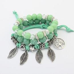 Kristall Perlen Armbänder für Frauen Vintage Armband Weiblichen Schmuck Quaste Naturstein Charme Armband Geschenk pulseira feminina von Fabrikanten