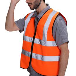 2019 uniformes de segurança Colete de Segurança quente de Alta Visibilidade Reflective Workplace Road Jaqueta de Segurança de Trabalho Ao Ar Livre Colete Ciclismo Sportswear Uniformes uniformes de segurança barato