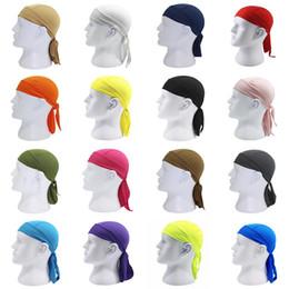 Nuevos colores de ejecución libre online-DHL gratis Nuevas Tapas de Ciclismo Bufanda de Cabeza de Secado rápido 16 colores Hombres Mujeres Verano Correr Montar Bandana Pañuelo Pirata Sombrero Capucha Diadema M415F
