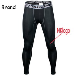 legging compression Promo Codes - Original 2019 men NK pro combat Athletic skinny compression Basketball training legging run gym track sport tight pants fitness