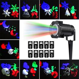 Projecteur multicolore en Ligne-Lumières de projecteur de Noël en plein air Supli multicolores rotatives Led Led Projection de la lumière étanche Flocon de neige Spotlight-10pcs modèle
