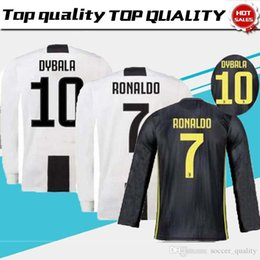 7915533129c Thailand RONALDO Juventus 2019 long sleeve soccer jerseys DYBALA 18 19  football shirt Top fans player version Champion league MEN long sleev