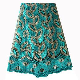 Canada Tissu De Dentelle Français Teal Vert Perlé Africain Dentelle Tissu 2019 Haute Qualité Brodé Pour Robes De Mariage Nigérians cheap green african dresses lace Offre