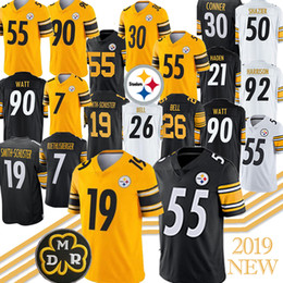 Watt shorts on-line-55 Devin Bush Jersey Pittsburgh 7 Ben Roethlisberger Steelers 19 Juju Smith-Schuster 30 James Conner 90 T.J. Watt jerseys 2019 Novo
