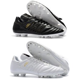 buy popular b0a48 15b3c Spedizione gratuita New Mens High Ankle scarpe da calcio Copa Mundial FG  Scarpe da calcio Original Copa Mundial Black bianco Outdoor Tacchetti da  calcio