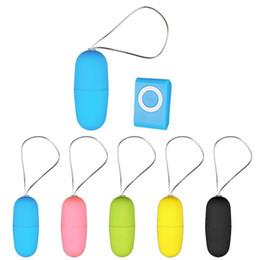 Uovo di vibrazione telecomandato impermeabile di 20 velocità MP3, vibratore femal senza fili, giocattoli adulti del sesso per i prodotti del sesso della donna 5 colori da