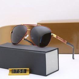 Canada lunettes de soleil de haute qualité marque designer mode 8758 lunettes de soleil Hommes lunettes de soleil avec boîte d'origine Offre