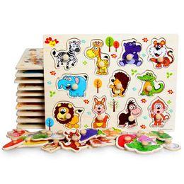 2019 marine holz Baby Hand Grab Board Spielzeug Montessori Holz Puzzle Set pädagogisches Holz Spielzeug Cartoon Fahrzeug / Marine Tier Puzzle rabatt marine holz