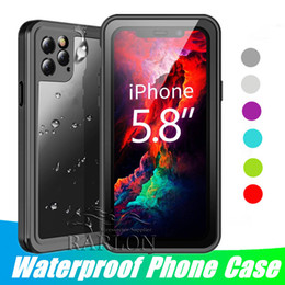 Iphone protector 10 de volta on-line-Waterproof Case 360 ​​completa Protector for iPhone 11 Pro Max Caso Piscina Limpar Back Frente tampa do telefone para Samsung Galaxy S10 S9 Nota 10 XR 8