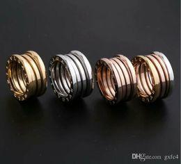 2019 anéis finos Nova Versão de Aço de Titânio Anéis Oco Primavera para As Mulheres Homens Anel de Noivado de Casamento Bulgária Jóias Finas Nunca Desaparecer anéis finos barato